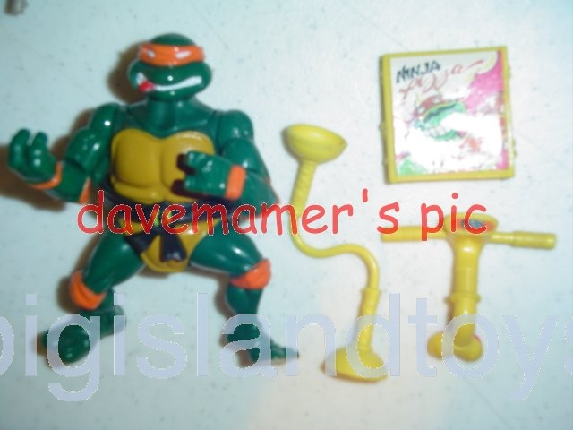 Teenage Mutant Ninja Turtles 1991 Figures       Headdroppin Mike