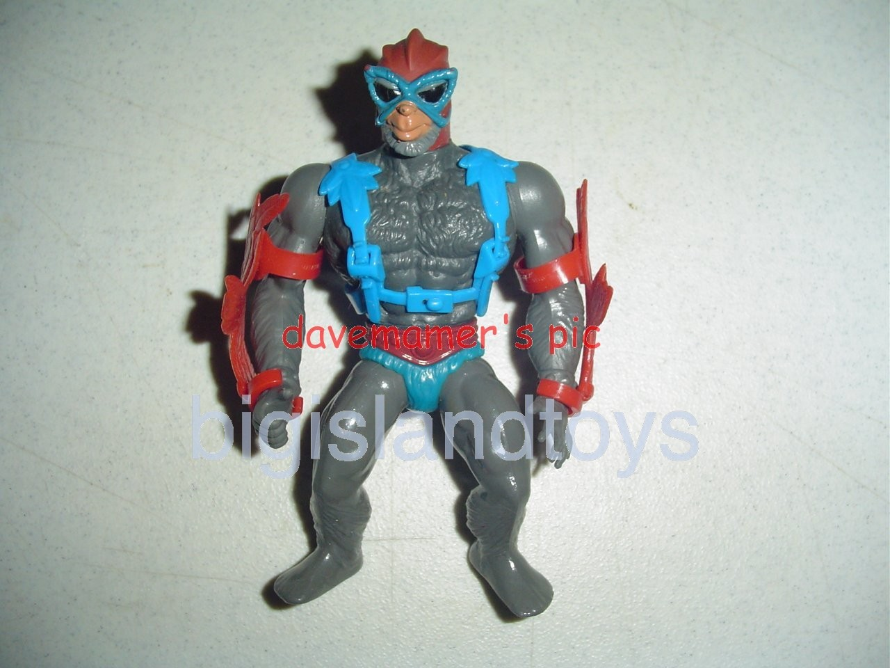 Masters of the Universe Series 1 1982   Stratos Red Wings Blue Strap