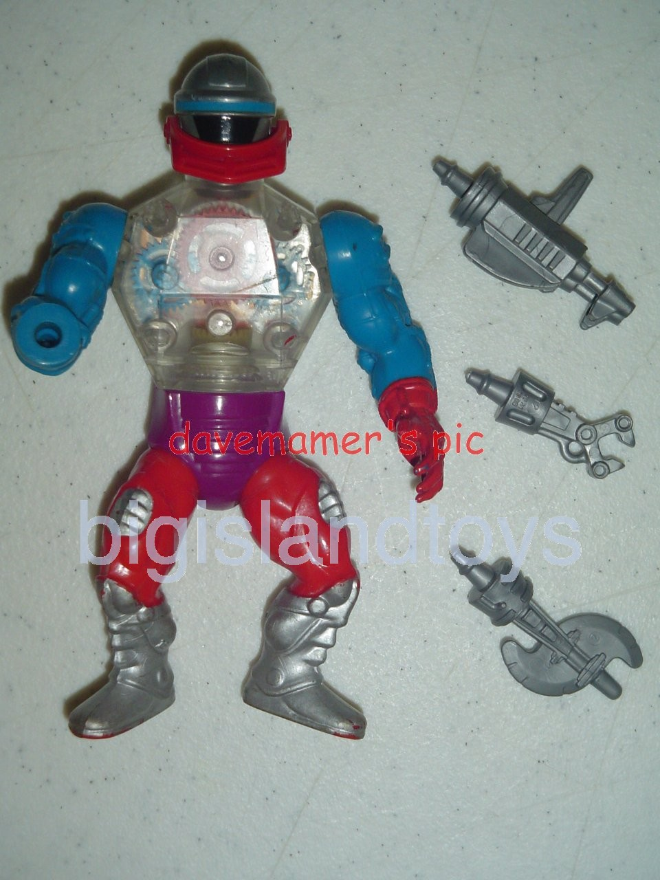 Masters of the Universe Series 4 1985   Roboto Silver boots