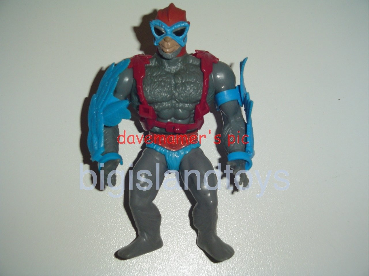 Masters of the Universe Series 1 1982   Stratos Blue Wings Red Strap