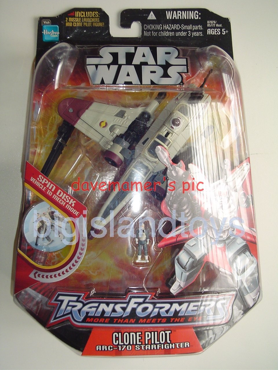 Transformers Crossovers Star Wars   Clone Pilot / ARC-170 Starfighter