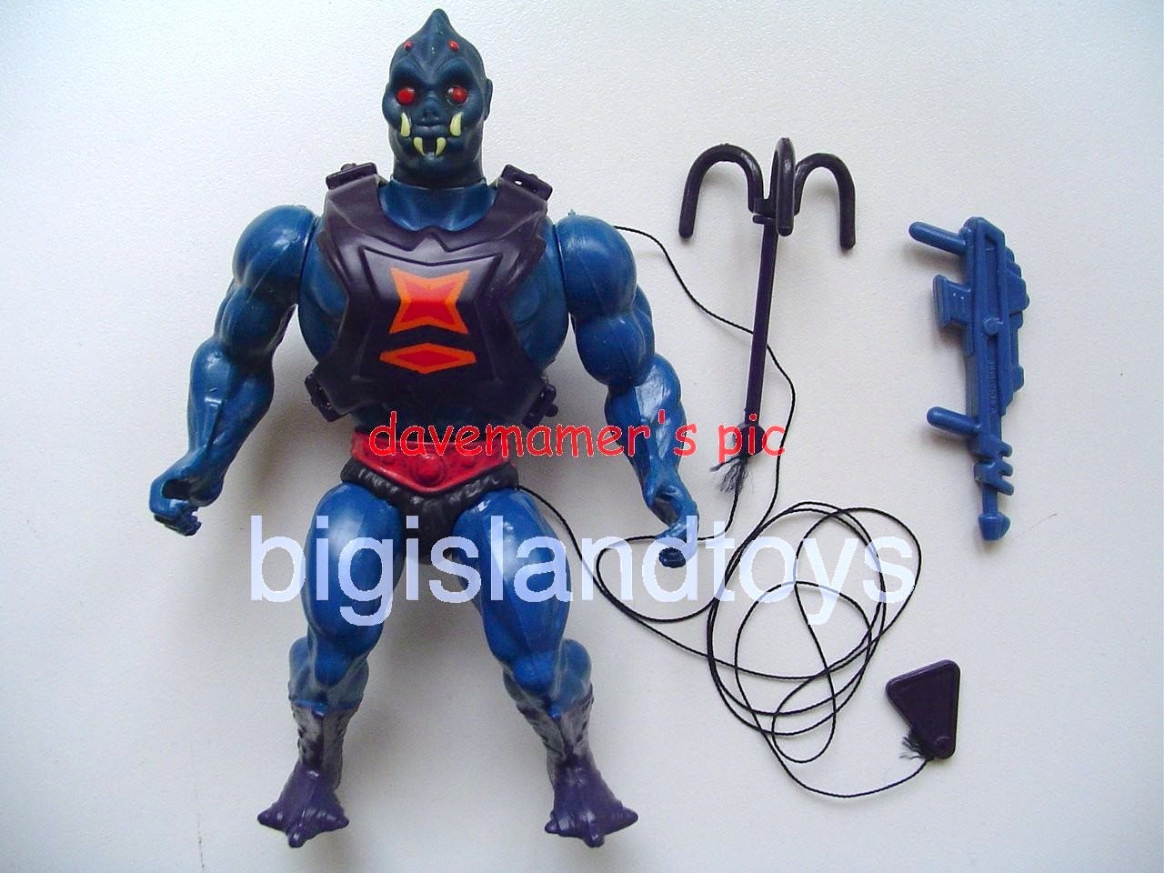 Masters of the Universe Series 3 1984   WebstorBlue Gun