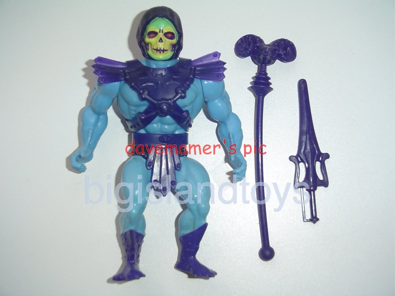 Masters of the Universe Series 3 1984   Skeletor OriginalFull Painted Boots