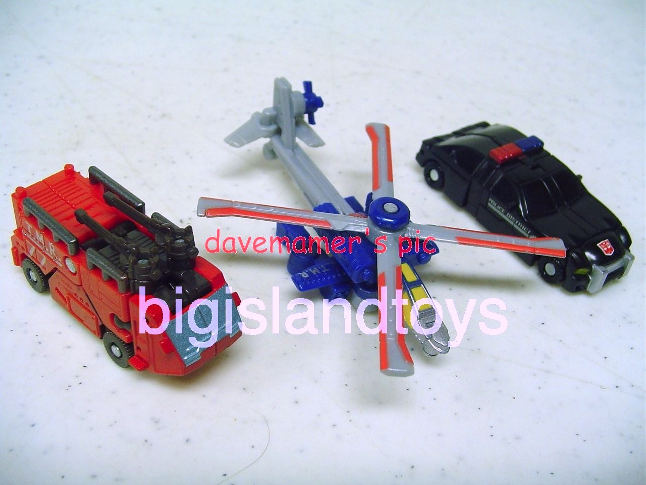 Transformers RID Classics   Night Rescue Team Divebomb, Firebot, Strongarm