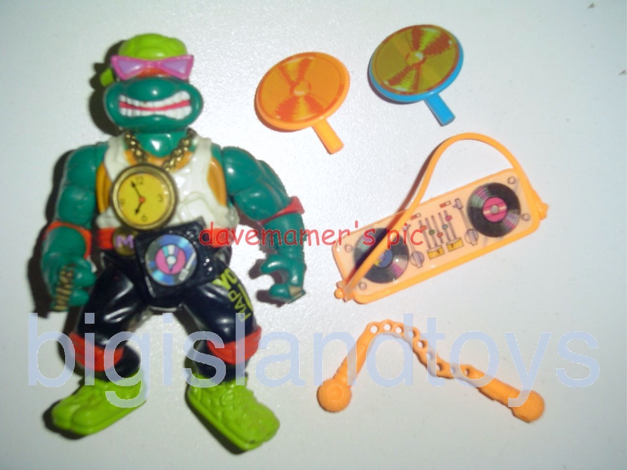 Teenage Mutant Ninja Turtles 1991 Figures   Rappin Mike