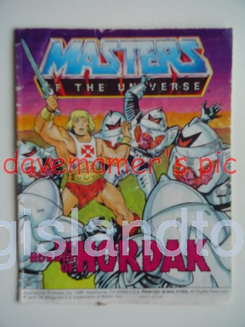 Masters of the Universe Mini Comics   The Hordes of Hordak