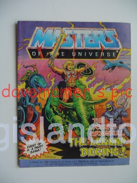 Masters of the Universe Mini Comics   The Powers of Grayskull The Legend Begins!