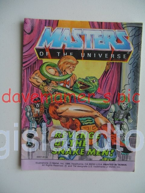 Masters of the Universe Mini Comics   Revenge of the Snake Men!