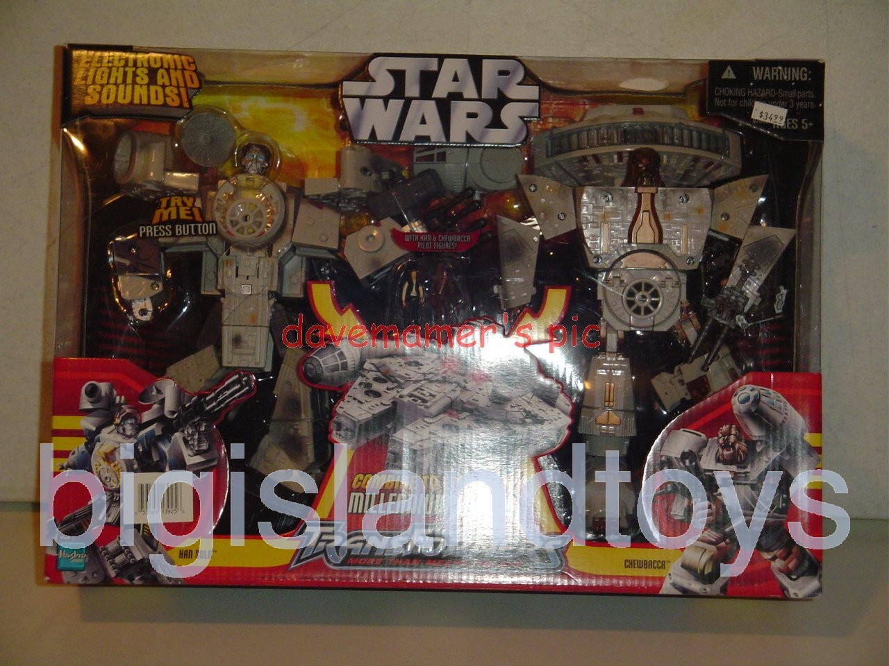 Transformers Crossovers Star Wars   Han Solo and Chewbacca / Millennium Falcon