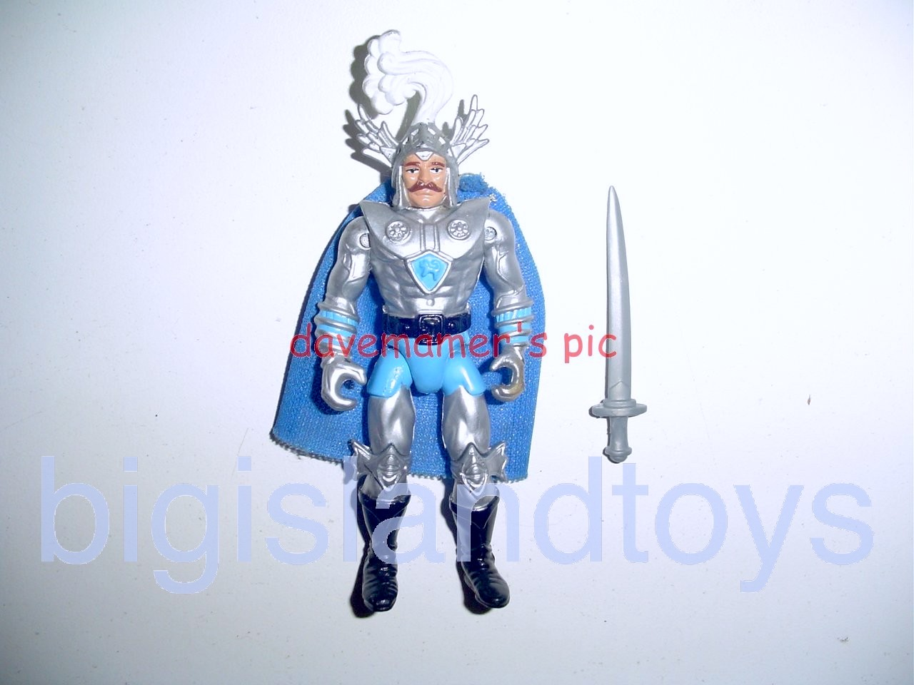 Advanced Dungeons & Dragons LJN Good Figures   Strongheart Good Paladin Regular versionSilver Color