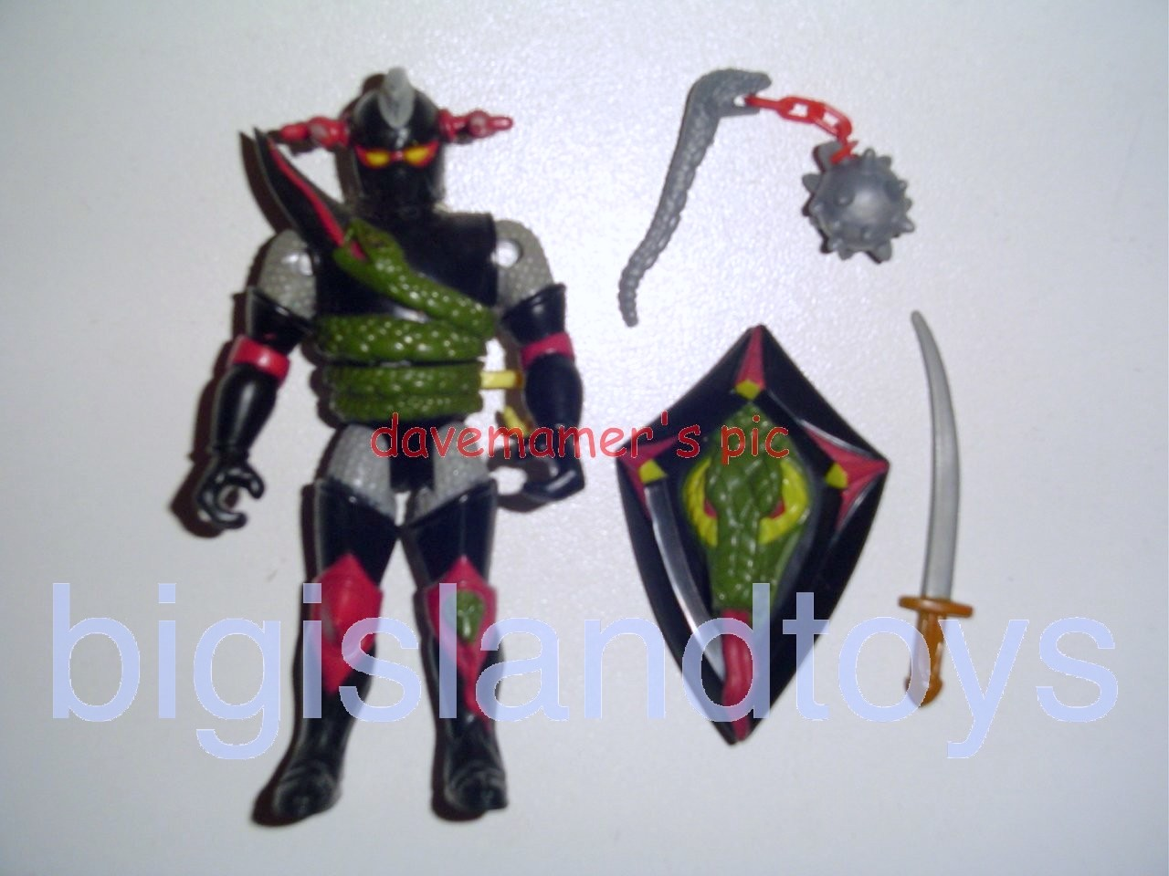 Advanced Dungeons & Dragons LJN Evil Figures   Battle Matic Grimsword Evil Knight