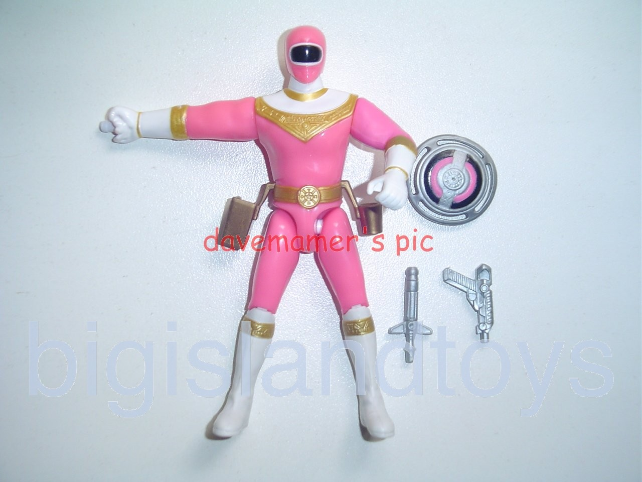 Power Rangers Zeo 5.5 inch Rangers  Shield Spinning Action Pink Zeo Ranger I