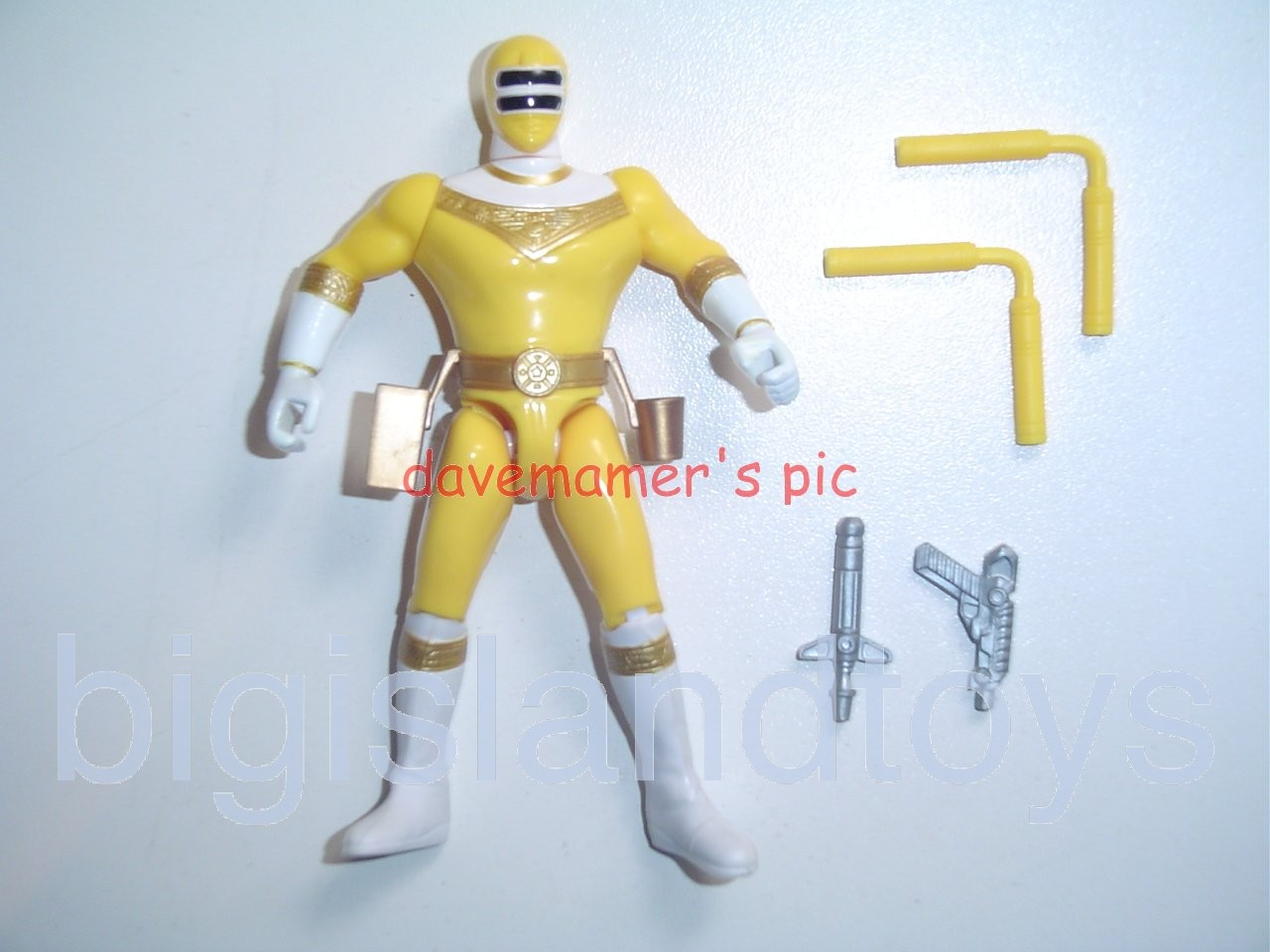 Power Rangers Zeo 5.5 inch Rangers  Double Club Action Yellow Zeo Ranger II