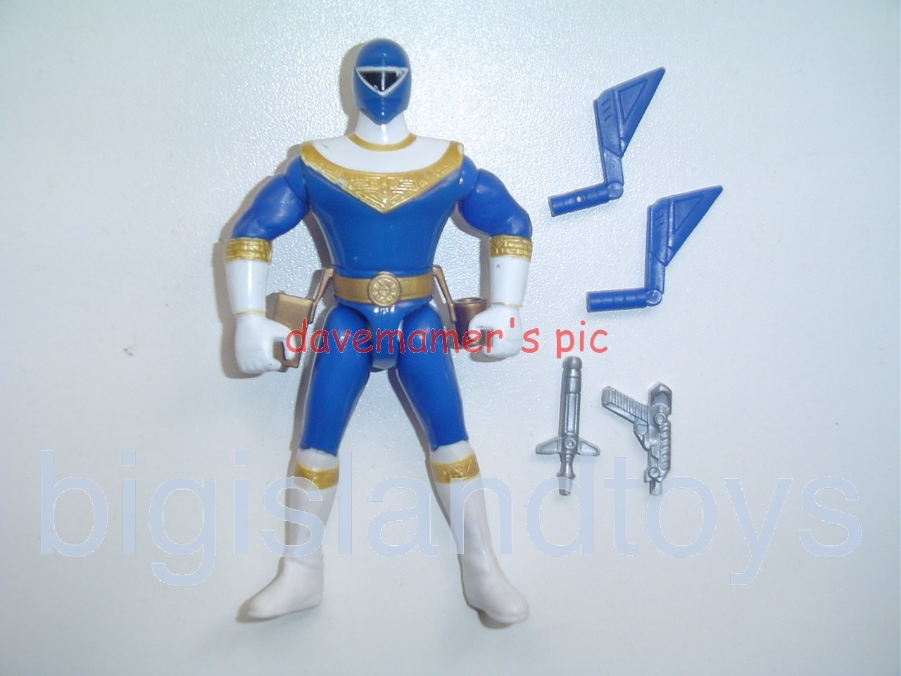 Power Rangers Zeo 5.5 inch Rangers  Axe Action Blue Zeo Ranger III