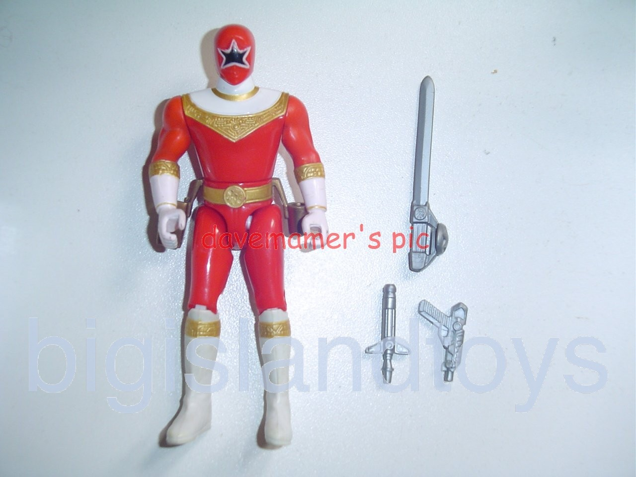 Power Rangers Zeo 5.5 inch Rangers  Sword Action Red Zeo Ranger V
