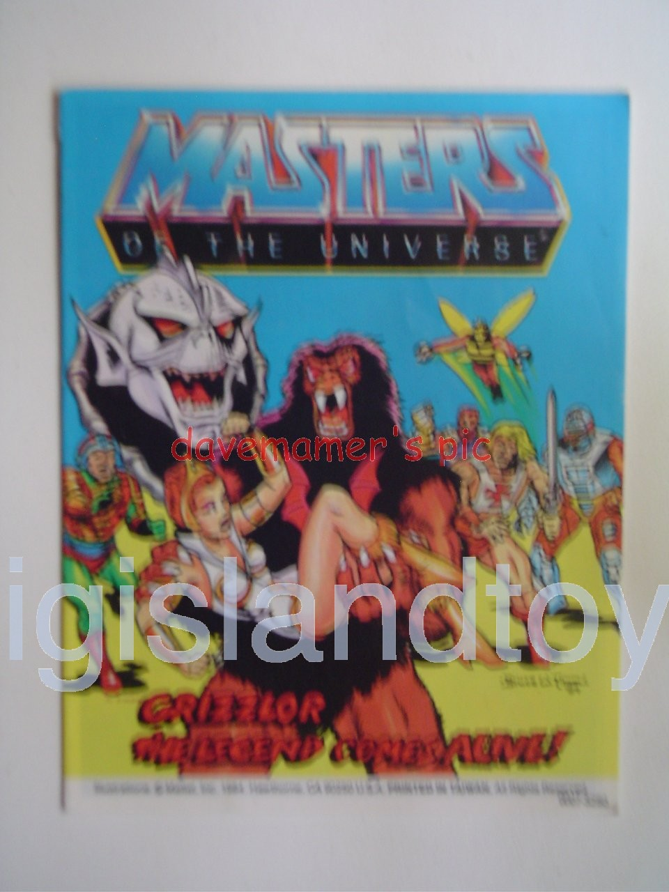Masters of the Universe Mini Comics   Grizzlor - The Legend Comes Alive!