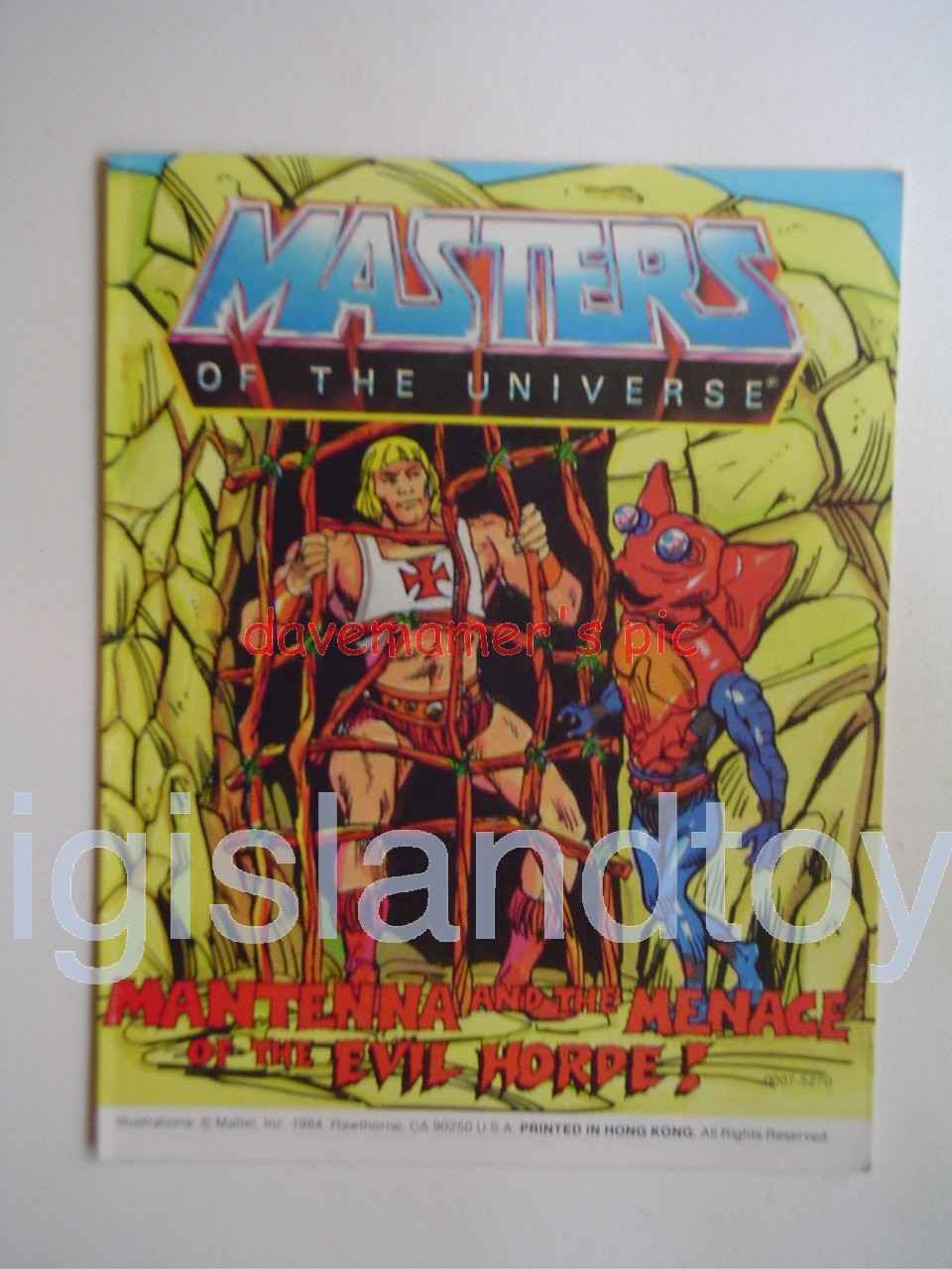 Masters of the Universe Mini Comics   Mantenna and the Menace of the Evil Horde!