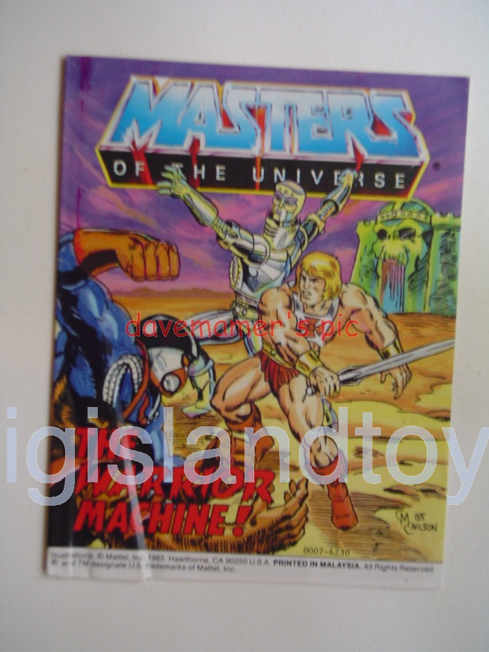 Masters of the Universe Mini Comics   The Warrior Machine!