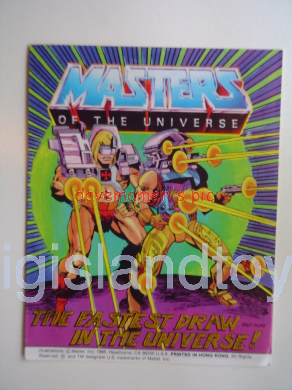 Masters of the Universe Mini Comics   The Fastest Draw in the Universe!