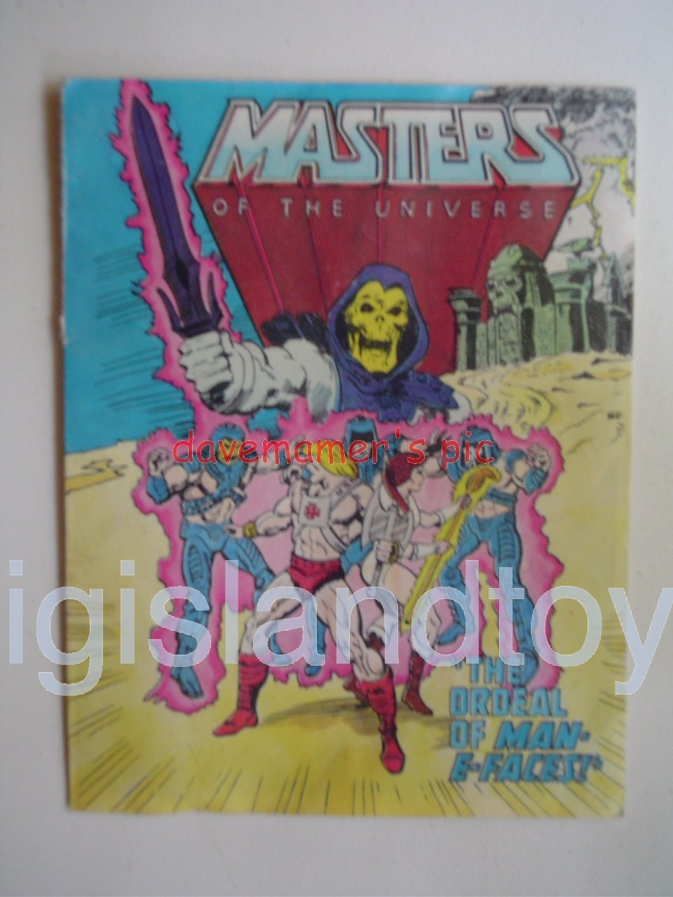 Masters of the Universe Mini Comics   The Ordeal of Man-E-Faces!