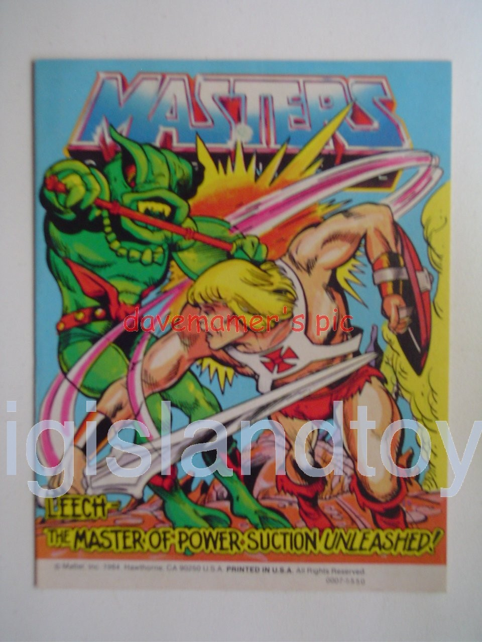 Masters of the Universe Mini Comics   Leech - The Master of Power Suction Unleashed!
