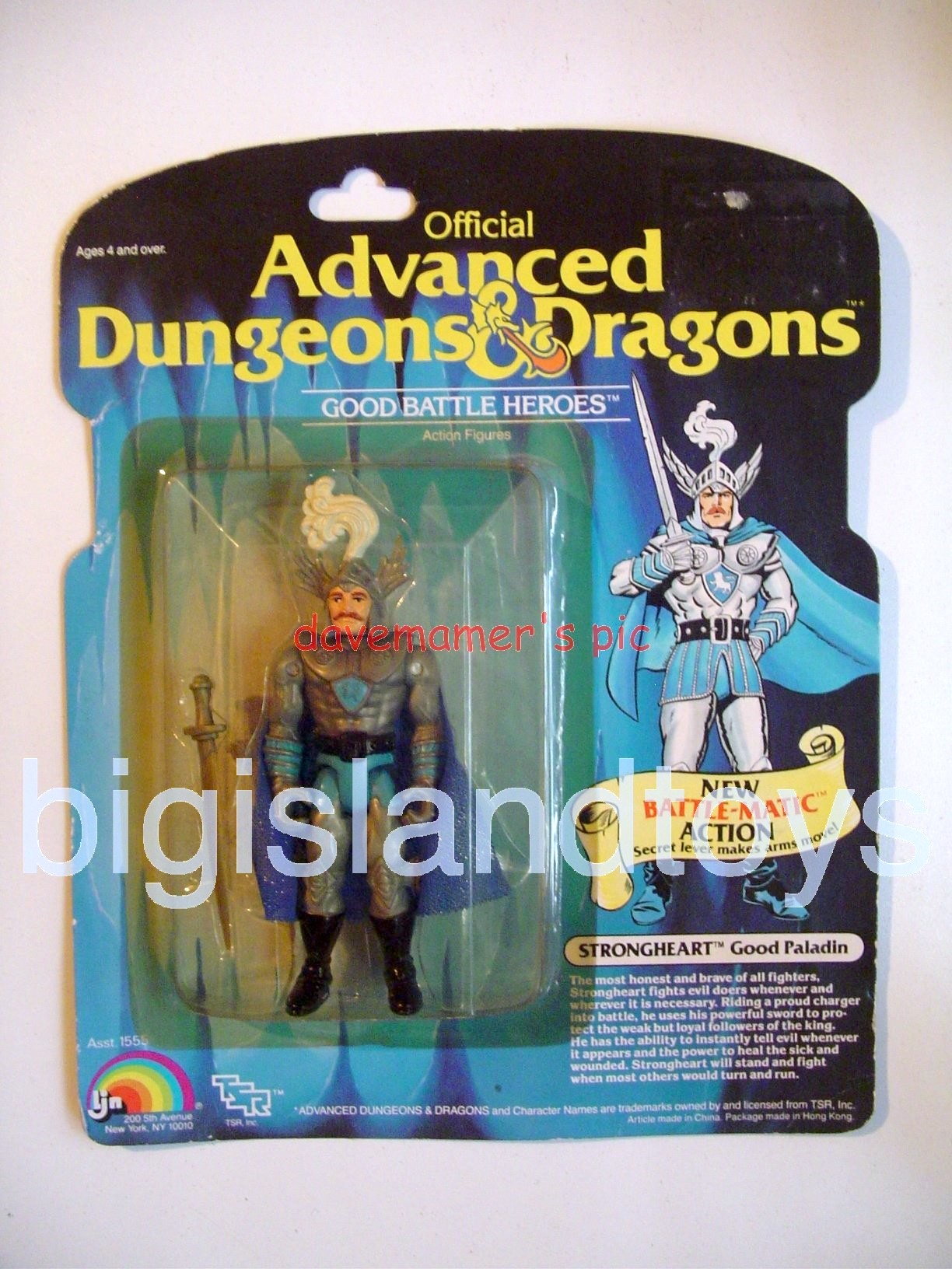 Advanced Dungeons & Dragons LJN Good Figures   Strongheart Good Paladin Battle MaticGray Color
