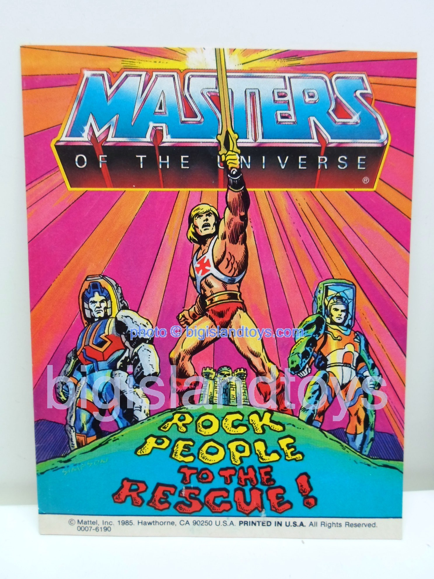 Masters of the Universe Mini Comics   Rock People to the Rescue!