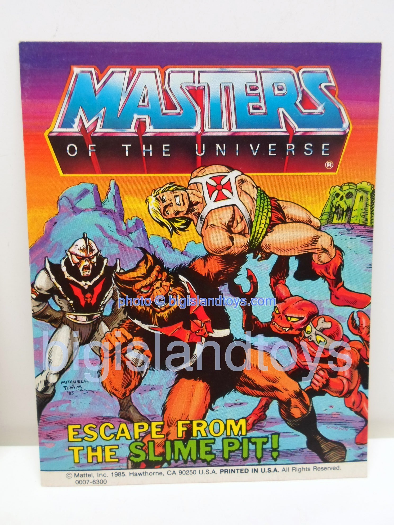 Masters of the Universe Mini Comics   Escape from the Slime Pit!