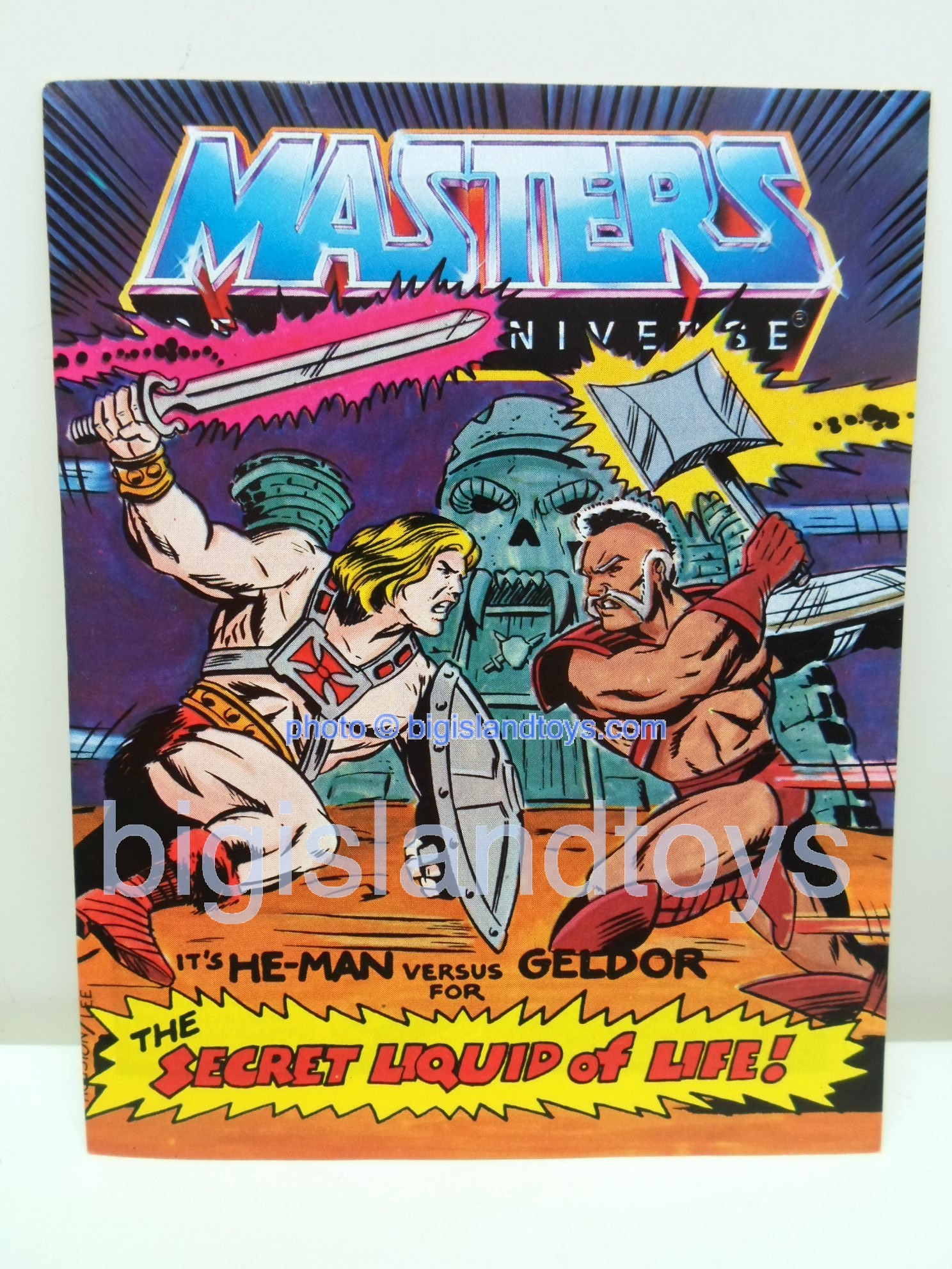 Masters of the Universe Mini Comics   The Secret Liquid of Life!