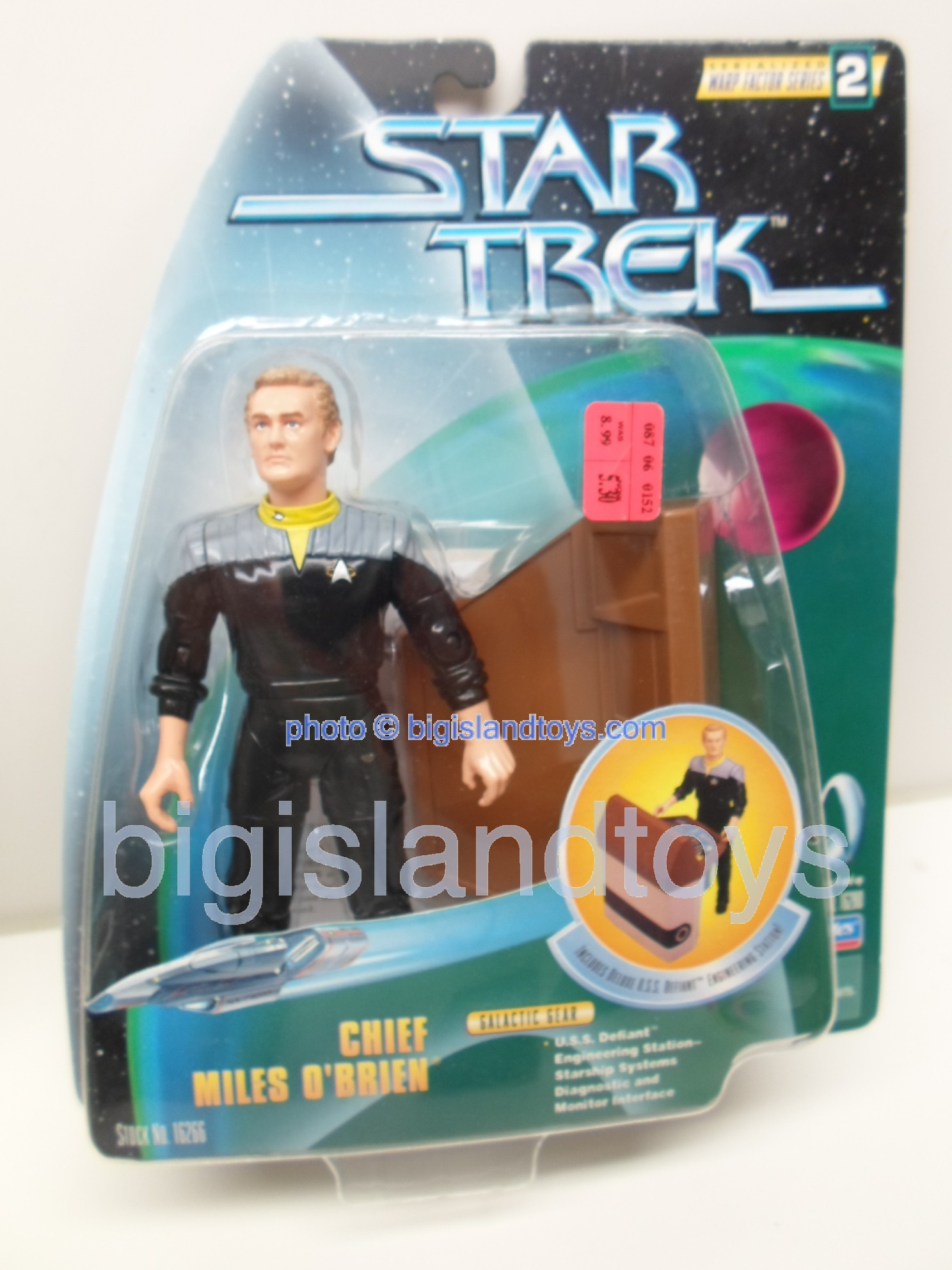 Star Trek  Galactic Gear Combat Action   CHIEF MILES O'BRIEN